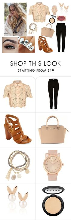 ,ñp09 by nelssy-escalante-machacon on Polyvore featuring moda, self-portrait, River Island, Bamboo, Michael Kors, Aamaya by priyanka, DesignSix, LORAC and Smashbox