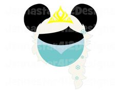 Disney Inspired Frozen Minnie Queen Elsa DIY Printable Iron On Transfer Digital File