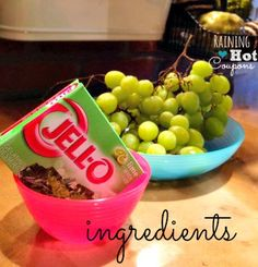 Sour Patch Grapes Recipe. Would Tuck like these for school? Jazz and Reed are excited about taking these in their lunches:)