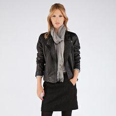 Blouson en cuir | Blousons et manteaux | Comptoir des Cotonniers