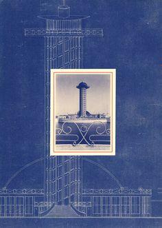 Diergaarde Blijdorp - Uitkijktoren blauwdruk