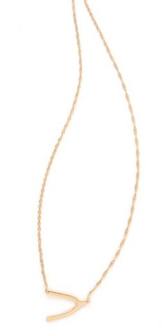 Wishbone golden necklace