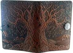 Ancient Oak Tree Leather Journal - Item Detail for LLJ-M17 at Gryphon's Moon #GryphonsMoon