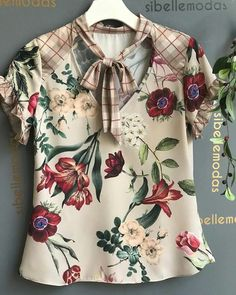Blusas mujer Diy Decorating diy home projects Girls Tunics, Blouses For Women, Kurta Designs, Blouse Designs, Casual Dresses, Fashion Dresses, Moda Chic, Blouse Models, Blouse And Skirt