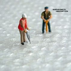 That's how bubble wrap is made...tiny little bubble wrap construction fairies!