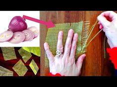 SOĞAN TORBASIYLA YAPTIM - YouTube Youtube, Macrame, Recycling, Creations, Wreaths, Embroidery, Crochet, Crafts, Fashion Design