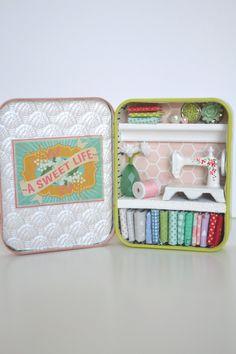 Tiny Tin Sewing Room ~ A Sweet Life by TeaRoseCompany on Etsy