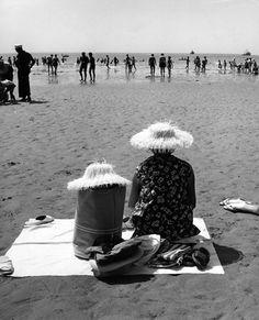 Les Sables d,Olonne. Vendée août 1959. Robert Doisneau