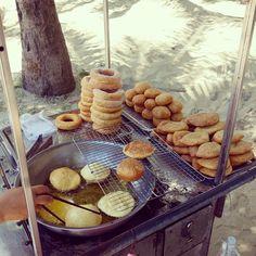 Vietnamese donuts street food.