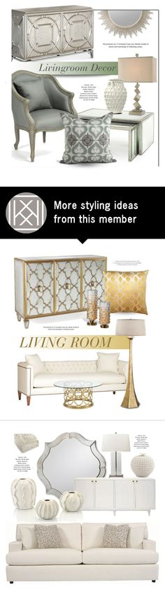 """""""Livingroom Decor"""" by kathykuohome on Polyvore featuring interior, interiors, interior design, home, home decor, interior decorating, Home, homedecor, homedesign and homeset"""