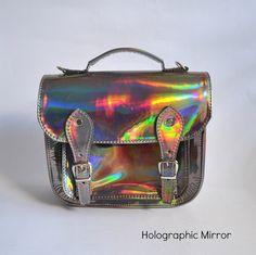 Bag number 3 Vegan nonleather satchel shoulder by goldenponies