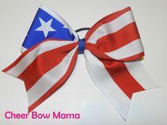 American Flag Cheer Bow by Cheer Bow Mama