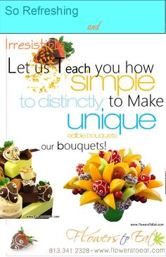 Let us teach you how to make our beautiful fruit arrangements! Professional classes held weekly in Tampa, Florida