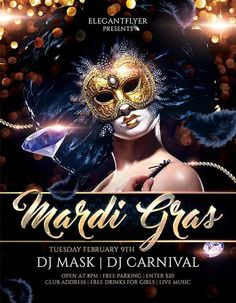 Mardi Gras Carnival Free PSD Flyer Template…