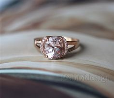 Hey, I found this really awesome Etsy listing at https://www.etsy.com/listing/197218337/newest-design-morganite-engagement-ring