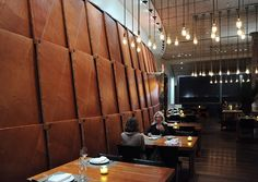 No salad as a meal – Eat vicariously: Craft, New York Commercial Design, Commercial Interiors, Cafe Restaurant, Restaurant Design, Leather Wall Panels, Deco, Interior Architecture, Interior Design, Wall Treatments