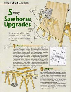 #1093 Sawhorse Upgrades - Workshop Solutions
