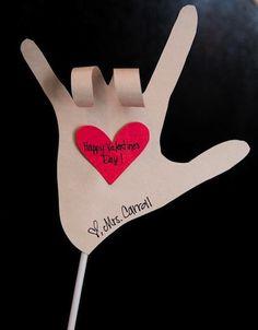Homemade Valentine. Super cute. Super simple.