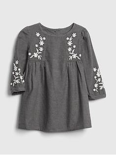 e04b879aee2 Floral Embroidered Dress Grey Floral Dress