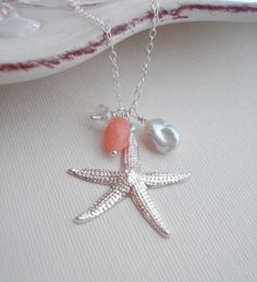 Silver Starfish Necklace - too cute!