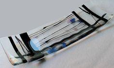 Fuse Glass Art Plate with Confetti