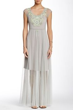 Biya Long Mesh Dress