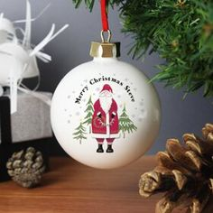 Personalised Father Christmas Bauble: Item number: 3444912487 Currency: GBP Price: GBP8.95