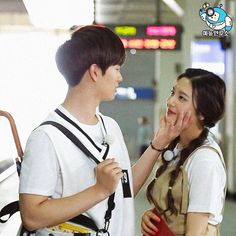 """When Red Velvet's Joy and BTOB's Sungjae appeared on """"We Got Married"""" fans were absolutely convinced they were actually in love. Wgm Couples, Kpop Couples, Cute Couples, Sungjae And Joy, Sungjae Btob, We Got Married Couples, We Get Married, South Korean Girls, Korean Girl Groups"""