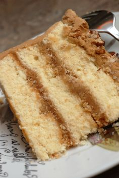 Bobby's Caramel Cake - Paula Deen.  I was looking for a recipe for a multi layered walnut cake and came across this caramel & pecan cake.  Will give it a try this week and keep looking for a walnut cake!