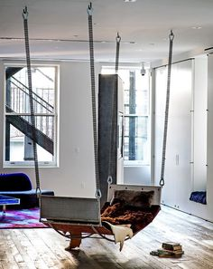 Living room couch swing (or bed?)