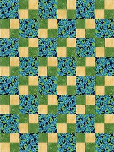 This is a nice pre-cut quilt kit that would work well for a table topper or wall…