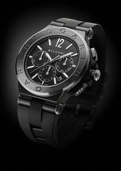 TimeZone : Industry News » N E W M o d e l - Bulgari Diagono Ultranero Chronograph
