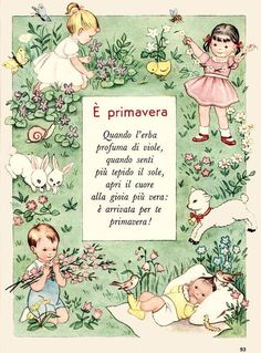 Italian Words, Italian Quotes, Vintage Cards, Vintage Books, Italian Alphabet, Italian Proverbs, Italian Vocabulary, Italian Lessons, Kids Poems