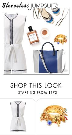 """Sleeveless"" by hellodollface ❤ liked on Polyvore featuring Laura Manara, Soludos, Dolce&Gabbana and sleevelessjumpsuits"