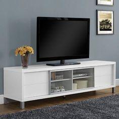 Monarch International Specialties Hollow Core Wood TV Console