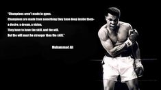 Muhammad Ali was the greatest boxer of all time & was never afraid to speak his mind. Here are 9 quotes from Ali that'll surely fill your heart with pride. Sport Quotes, Girl Quotes, Boss Quotes, Sport Body, Sport Man, Muhammad Ali Quotes, Motivational Quotes, Inspirational Quotes, Gym Video