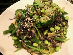 Miso Mustard Dressing and Black Bean Noodle Salad Healthy Salad Recipes, My Recipes, Cooking Recipes, Vegan Recipes, Black Bean Noodles, Recipe Form, Healthy Vegan Breakfast, Home Meals, Easy Meal Plans