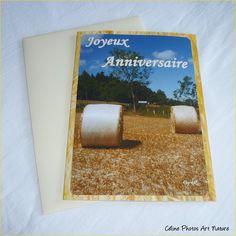 """Carte double d'anniversaire """" Moissons """" de Céline Photos Art Nature : Cartes par celinephotosartnature"""