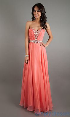 Long Strapless Sweetheart Formal Gown at SimplyDresses.com