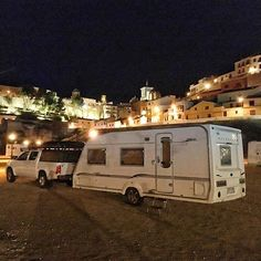 Just a parking lot in Chinchilla south of Spain in La Mancha region. Even boondocking could be glamorous sometimes.  #digitalnomad #travel #spain #overland #caravan #family #gurucamper #nomads #rooftoptent #boondocking