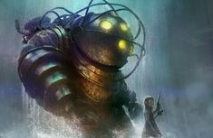 Bioshock illustration by TylerEdlinArt.deviantart.com on @DeviantArt