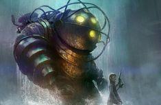Bioshock illustration by TylerEdlinArt on DeviantArt