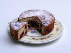 Cherry Sponge Cake Miniature in 1:12 by Erzsébet Bodzás IGMA Artisan