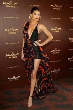 Kendall Jenner Magnum Versace Dress