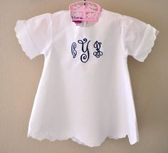 Sweet little scalloped dress with monogram. $19.99 on Etsy by lara