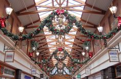 Christmas decorations at the Victoria Centre