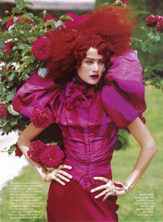 Christian Dior Haute Couture S/S 2009, 'Couture's Glorious Excess' by Peter Lindbergh
