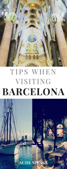 Hints and tips when visiting the beautiful city of Barcelona, Spain #traveltips #traveldestinations #travelguide