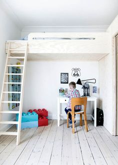 """Learn more relevant information about """"bunk bed designs diy"""". Learn more relevant information about """"bunk bed designs diy"""". Take a look at our website. Bunk Bed Rooms, Bunk Beds With Stairs, Kids Bunk Beds, Kids High Beds, Mezzanine Bedroom, Diy Bett, Bunk Bed Designs, Loft Spaces, Boy Room"""