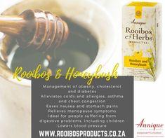 Rooibos and Honeybush tea Chest Congestion, Menopause Symptoms, Lower Blood Pressure, Asthma, Cholesterol, Allergies, Healing, Herbs, Tea